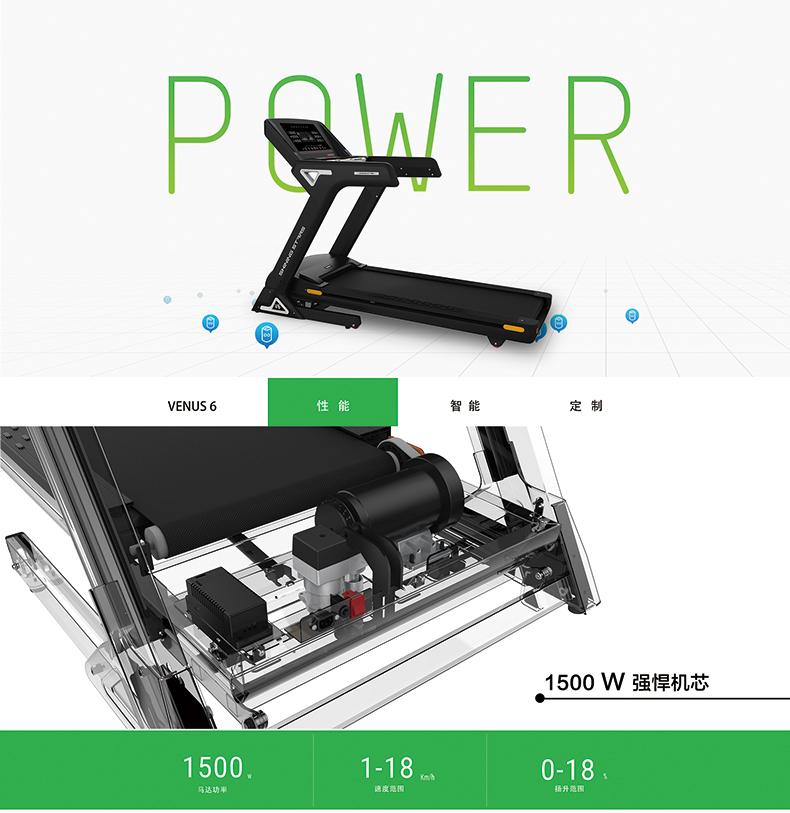 ZX-V6T豪华商用跑步机动力性能