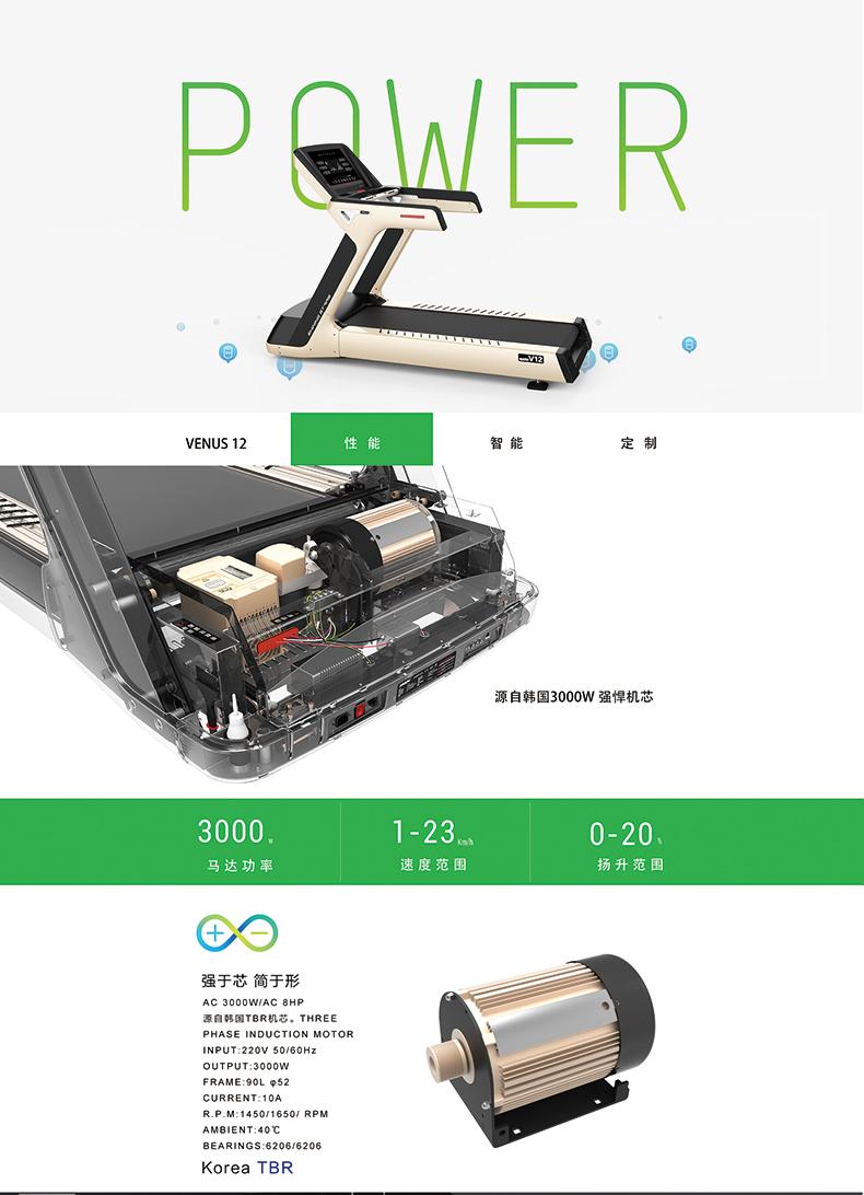 ZX-V12豪华商用跑步机电机介绍