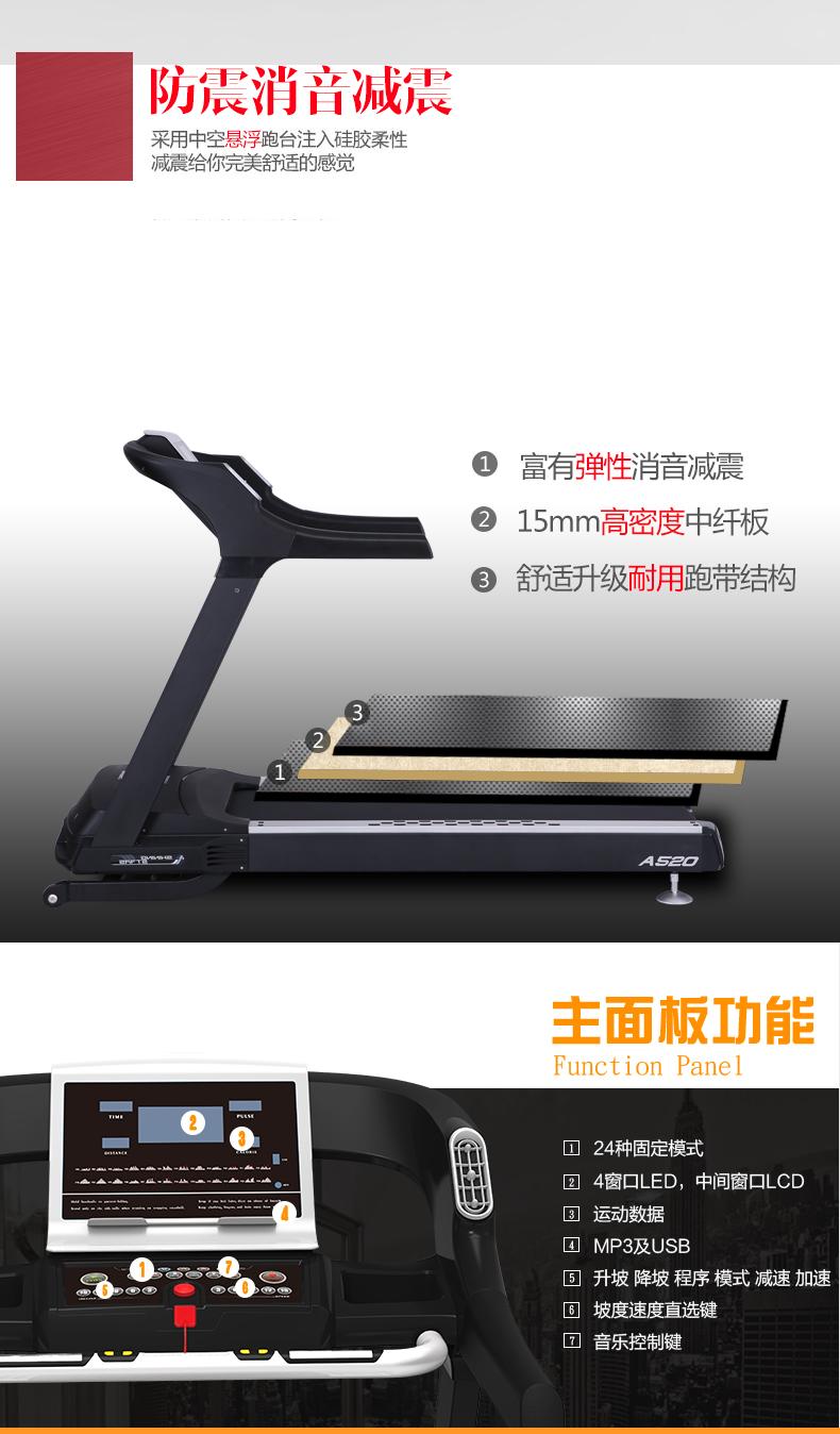 ZX-A520T多功能跑步机防震设计