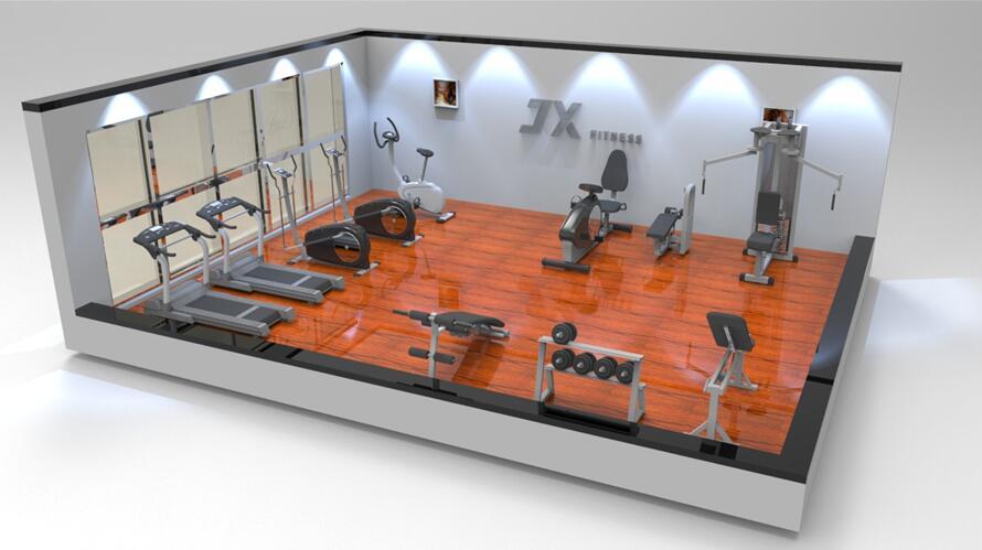 50平米单位健身房效果图