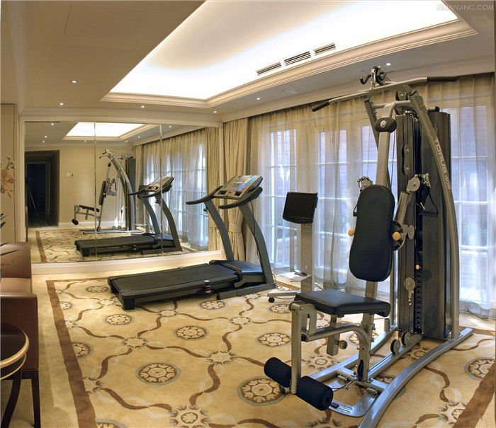 100平米酒店健身房效果图